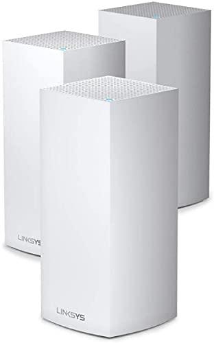 Linksys Système Wi-Fi 6 Mesh Multiroom Triple Bande Velop MX12600 (Routeur Wi-Fi AX4200 pour une Portée Jusqu à 830 métre carré Blanc)