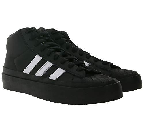 Adidas Originals x 424 Pro Model Mid Top Sneaker senza tempo in vera pelle, scarpe da basket, colore nero/bianco, Nero (Nero ), 36 2/3 EU