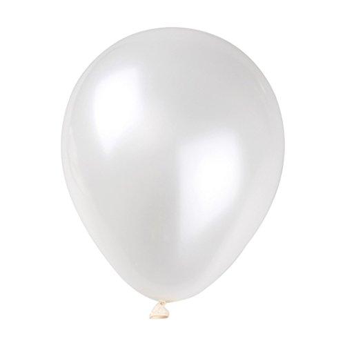 Jerollin 100pcs Palloncini Bianco per Festa, Compleanno, Matrimonio 2.2g