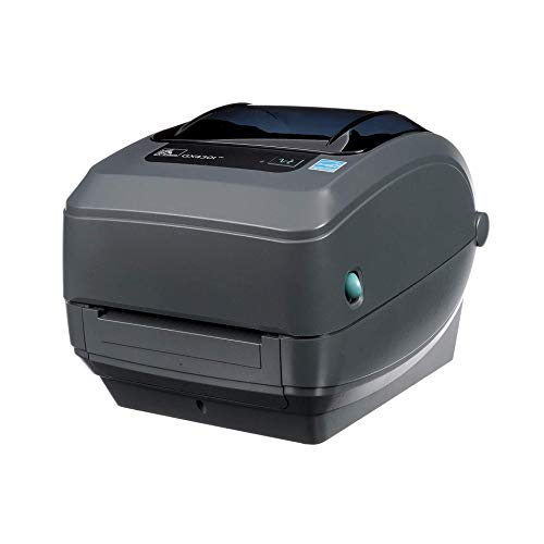 GX430T Zebra Printer – Thermal Transfer Desktop for Shipping Labels, Barcodes, Receipts, Tags, Wrist Bands – USB Interface, 4 Inch, with Power Supply (Renewed)