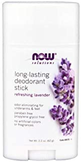 Now Foods Long Lasting Deodorant Stick - 2.2 oz 6 Pack