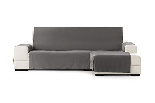 Eysa Somme Protect Funda de sofá 100% Poliester, 06/gris Chaise longue 240 cm.