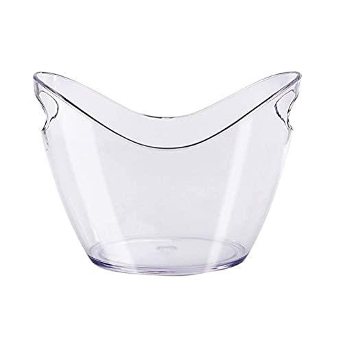 Quoxo - Cubitera de plástico transparente, soporte de almacenamiento de 4 litros para botellas de...