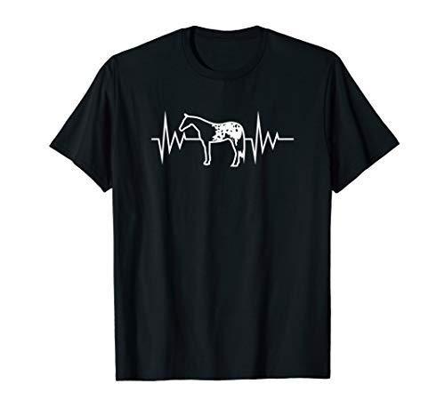 Appaloosa Herzschlag Pferd Reiter T-Shirt
