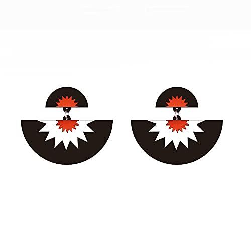 Pendientes para niñas, QWEA Pendientes de espejo negros asimétricos geométricos simples pendientes de acrílico de gran tamaño joyería de moda para mujer