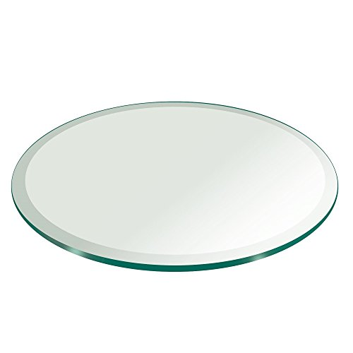 "18"" Inch Round Glass Table Top 1/2"" Thick Tempered Beveled Edge by Fab Glass and Mirror"
