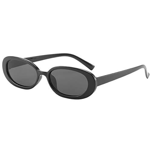Julhold Gafas de sol ligeras Gafas de sol unisex de moda de marco pequeño gafas de sol vintage retro forma irregular gafas de sol exteriores gafas de bloqueo gafas novedad, color, talla S
