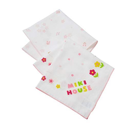 ミキハウス (MIKIHOUSE) ガーゼハンカチセット 46-8337-384 ピンク 女の子 ベビー キッズ 赤ちゃん 子供