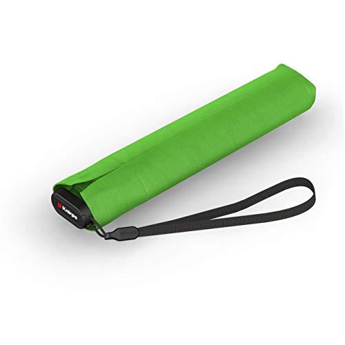 Knirps Taschenschirm Ultra US.050 Slim Manual – Ultra leicht und flach – Sturmfest – Windproof – 21 cm – Grün