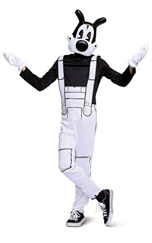 Disguise Bendy and the Ink Machine Boris Classic Boys Costume, Black & White, Large (10-12)