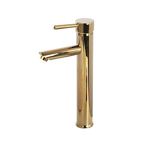 (agua) grifo; grifo; Bibcock todo cobre lavabo grifo nórdico de lujo estilo oro alto estilo caliente y frío grifo de la cuenca del agua a prueba de salpicaduras