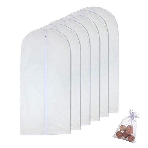 HomeClean custodie per Abiti 60x 100cm(6pcs) Sacchi Vestiti e 6 Palline di Cedro per Il Maglione della Camicia della Giacca