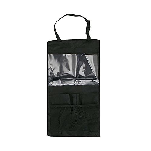 NEL Bolsas de viaje para asiento de coche, bolsa colgante para asiento trasero de coche, soporte de almacenamiento de viaje impermeable, organizador grande para tableta