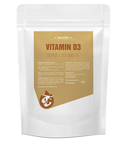 VITAMIN D3 20000 I.E. DEPOT - 360 Tabletten I Vorratspackung XL I Für Immunsystem, Knochen, Zähne und Wohlbefinden I Sonnenschein Vitamin D-3 - 1000 I.E. alle 20 Tage Made in Germany