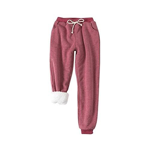 YOUNGE Comfy - Pantalones de chándal para mujer, de forro polar, estilo...