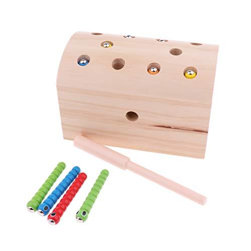 Montessori Magnet Fangen Insekten Würmer im Box Spiel Pädagogisches Spielzeug