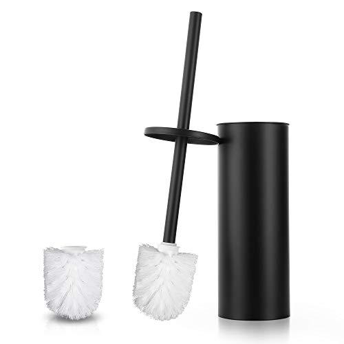 Hoomtaook Toilet Bowl Brush for Bathroom Toilet-Ergonomic Toilet Brush and Holder with 2 Brushes Toilet Bowl Brush for Bathroom Stainless Steel Toilet Brush Sets