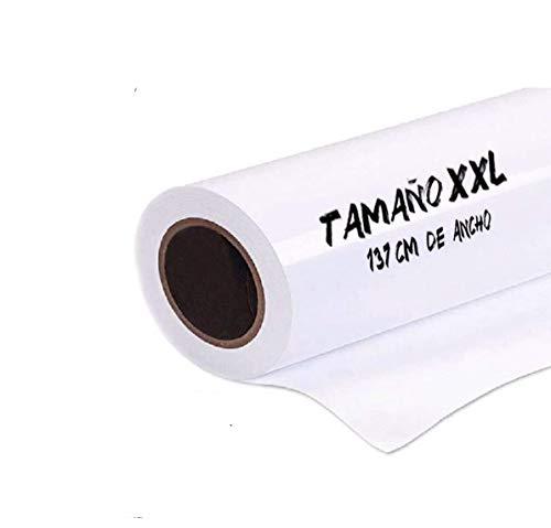 Pizarra adhesiva blanca 137 x 50 cm. Rollo pizarra profesional blanca autoadhesiva. Vinilo pizarra blanca, lámina adhesiva para colegios, oficinas, hogares, cocina