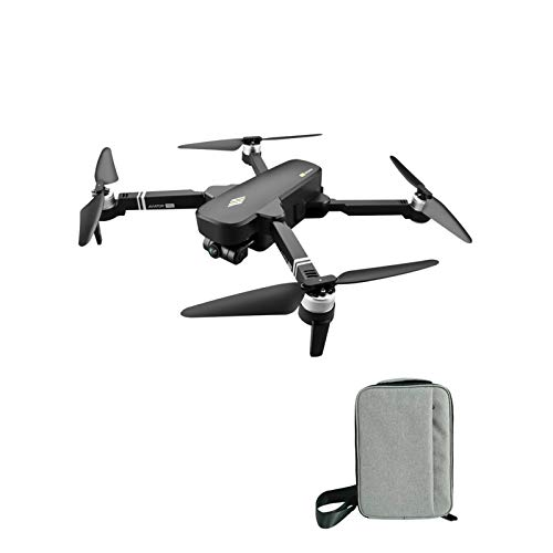 ZhaoZC Two-Axis Gimbal Aerial Drone 6k Hd Folding Quadcopter Remote Control Aircraft Toy, Altitude Hold Headless Mode,Black,Bag Package