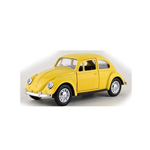 Coche Retráctil 1:36 para Volkswagen Beetle De 1967, Modelo De Aleación De Metal Fundido A Presión para Colección, Regalo Y Decoración (Color : Yellow, Size : A)