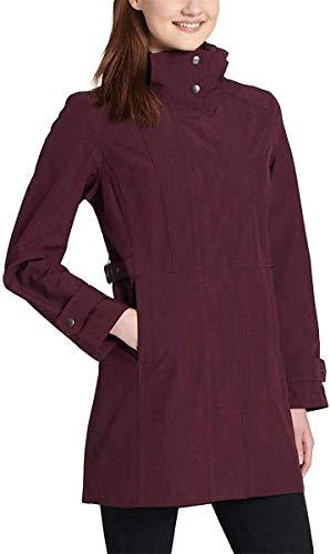 Kirkland Signature Ladies' Trench Rain Jacket, Variety (XL, Merlot)
