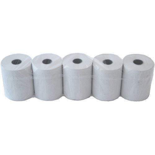 HeiPOS 5 x EC Cash Thermorollen 57 x 45 x 12mm, Lauflänge: 25m, mit Lastschrifttext, BPA - Phenol-A frei