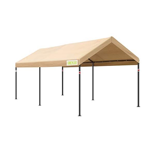 REYLEO Carports 10×20 ft Heavy Duty Car Canopy,Portable Garage Boat Shelter...