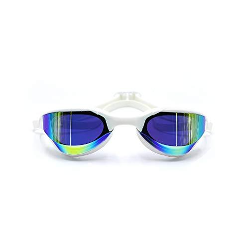 GSEKBCV HD Anti-Fog-Schwimm Kobra professionelle Schwimmbrille mit No Undichte Anti-Fog UV-Schutz-Objektiv und Schutztasche for Männer Frauen Jugend Teen beschichtet (Color : F)
