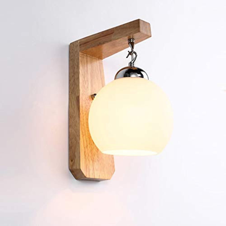LED Energiesparende Nachttischlampe Schlafzimmer Persnlichkeit Kreative Massivholz Korridor Wand Gang Balkon Beleuchtung