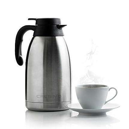 Cresimo Termo para Café / en Acero Inoxidable / Doble Panel Al Vacío / 12 Horas de Retención de Calor / 2 Litros