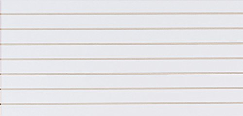 4 x 2 Foot Horizontal White Slatwall Easy Panels - Pack of 2