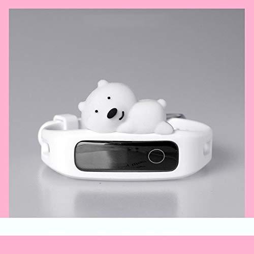 DSAX Nieuwe Replacement Strap siliconen horloge Wrist Running Smart Bekijk Armband (Band Color : Polar bear, Band Width : Huawei Band 5)