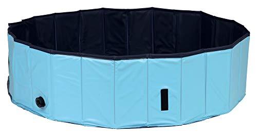 TRIXIE Piscina para Perros, ø 160×30 cm, Azul Oscuro-Azul