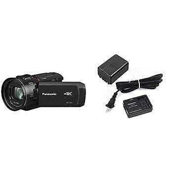 Panasonic HC-VX1 4K Camcorder,24X Leica DICOMAR Lens,Three O.I.S Stabilizer,Wireless Multi-Camera Capture  USA Black  with Power Pack for Consumer Camcorder,Black VW-PWPK