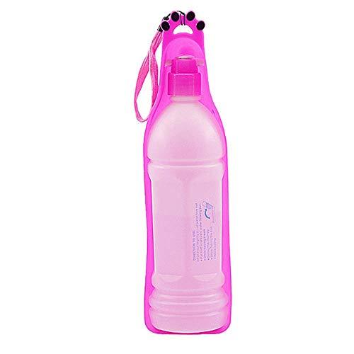 Perro Bebedero Botella, Bebedero Botella Perro Portátil Plástico Botellas De Agua para...