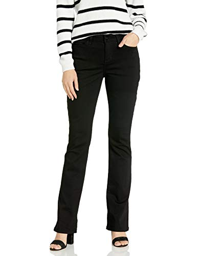 Lee Damen Iconic Regular Fit Bootcut Jeans, schwarz, 34 Lange