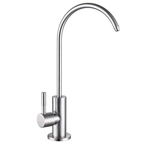 YOYMI Trinkwasserfilter Wasserhahn Edelstahl gebürstet Nickel Küche Bar Spüle Bleifrei Modern Wasserfilter Wasserhahn