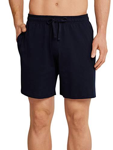 Schiesser Herren Mix & Relax Bermuda Schlafanzughose, Blau(Blau), Medium (Herstellergröße:050)