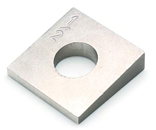 Beveled Square Washers in 304 Stainless Steels - 1/4