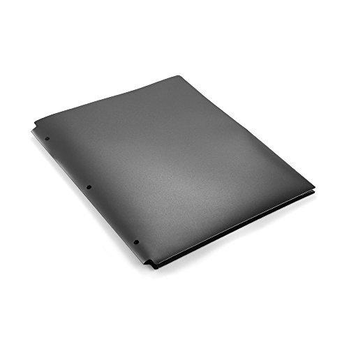COMIX 2 Pocket Letter Size Poly File Portfolio Folder with 3-Hole Punch - 12 Pack-A2140 (Black)