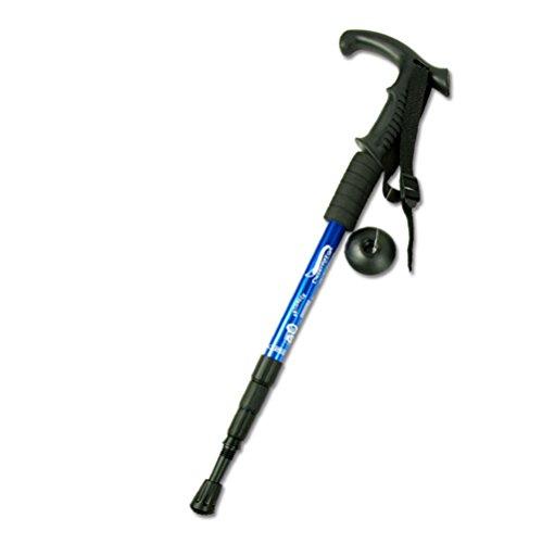 [BLEU] Durable réglable poignée en T anti-choc Marche / Bâtons, 110cm / 43 \
