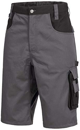 Nitras 7602 Männer-Arbeitshosen Kurz - Shorts für die Arbeit - Grau - 60