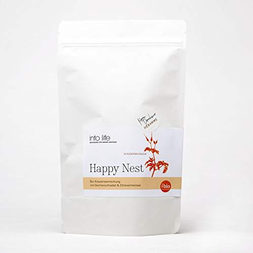 Happy Nest | Bio-Nesttee 90 g | into life | Kareen Dannhauer | Kräutertee aus Hebammenhand | biozertifiziert | zur Einstimmung und Vorbereitung | mit Storchenschnabel und Gundelrebe