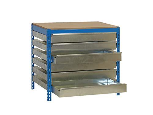 Banco trabajo BT5 cajón Simonwork Azul/Madera Simonrack