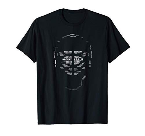 Herren Eishockey Goalie Maske Wortwolke Cooles lustiges Geschenk T-Shirt