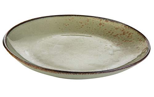 Dessertteller Kuchenteller Speiseteller | Steinzeug | Grün | spülmaschinenfest