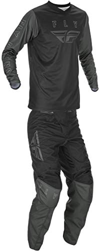 mxgear Fly Racing Mens SM Black/Grey F-16 Jersey and Pants Combo Kit 2021 Dirt Bike ATV MX SxS UTV