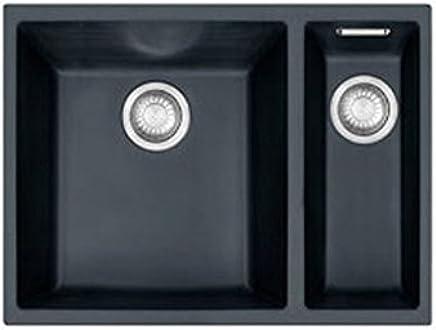 Fregadero de cocina de Franke Sirius 1.5 Bowl en blanco con el kit de residuos