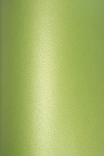 10 Blatt Perlmutt-Grün 120g Papier DIN A4 210x297 mm, Cocktail Mojito, ideal für Hochzeit, Geburtstag, Weihnachten, Einladungen, Diplome, Kunst und Handwerk
