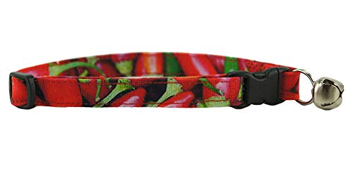 K9 Bytes Chili Peppers Cat Collar